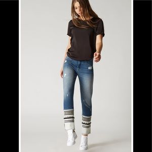 Blanknyc Distressed Miss Molly Straight Leg